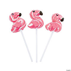 Flamingo-Shaped Swirl Pops