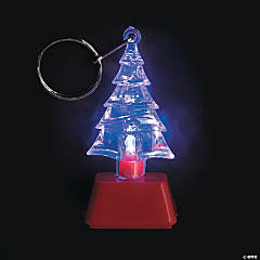 Flashing Christmas Tree Keychains