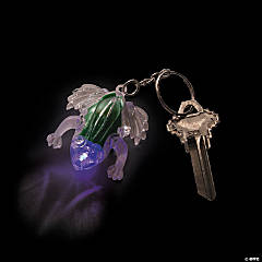 Flashing Frog LED Key Chains