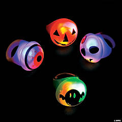 Flashing Halloween Light-Up Rings