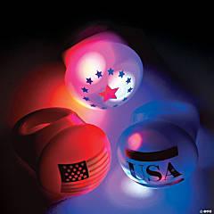 Flashing Patriotic Light-Up Rings