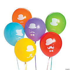 Flashy Stache Latex Balloons