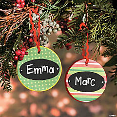 Flat Ceramic Christmas Ornaments Idea
