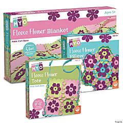 Fleece Flower Crafts: Set of 3