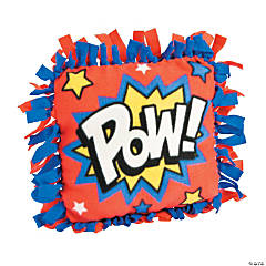 Fleece Superhero Tied Pillow Craft Kit