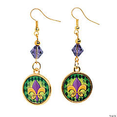 Fleur De Lis Charm Earrings Craft Kit