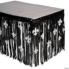 Fleur De Lis Table Skirt with Cutouts
