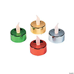 Flickering Battery-Operated Tea Light Candles