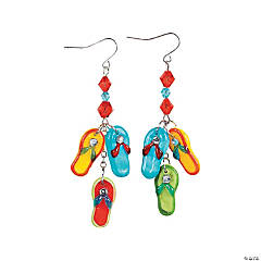 Flip Flop and Cut Glass Crystal Earrings Idea
