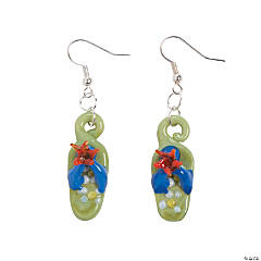 Flip Flop Lampwork Earrings Idea
