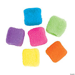 Flocked Cube Beads - 12mm