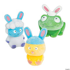 Flocked Easter Bunny Characters
