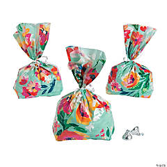 Floral Cellophane Bags