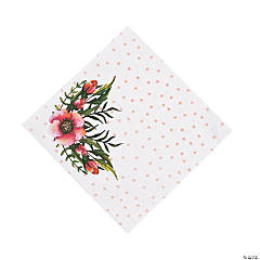 Floral Plaid Bridal Shower Luncheon Napkins