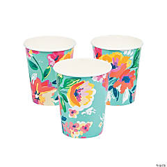 Floral Print Cups