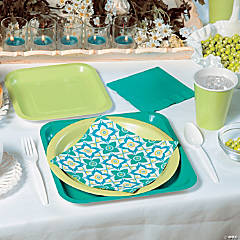 Floral Tile Party Supplies
