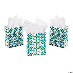 Floral Tile Print Gift Bags
