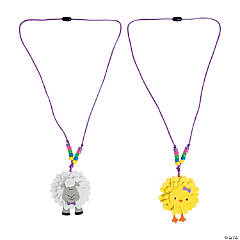 Flower Chick & Lamb Necklace Craft Kit