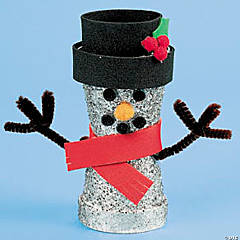 Flower Pot Snowman Idea