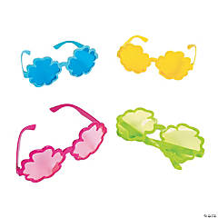 Flower-Shaped Color-Tinted Sunglasses