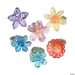Flower Stretchy Rings