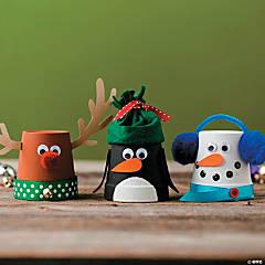 Flowerpot Christmas Character Idea