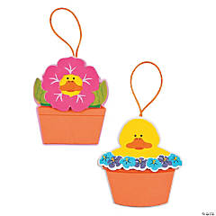 Flowerpot Duck Ornament Craft Kit