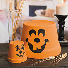 Flowerpot Pumpkins Idea