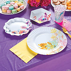 Fluorescent Floral Party Supplies