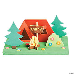 Foam 3D Camp Scene Craft Kit