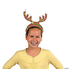 Foam Reindeer Antlers with Stickers
