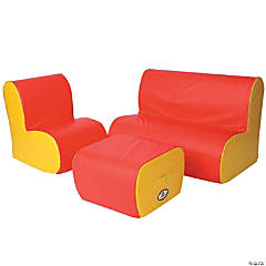 Foamnasium Cloud Seating Group Red & Yellow