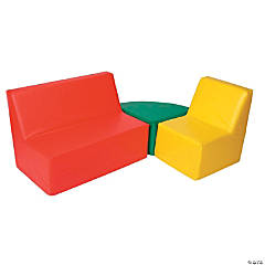 Foamnasium Straight Back Seating Group Red, Green & Yellow