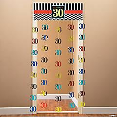 Foil 30th Celebration Door Curtain