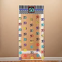 Foil 50th Celebration Door Curtain