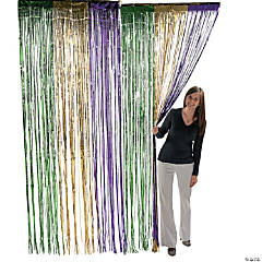 Foil Mardi Gras Fringe Door Curtain