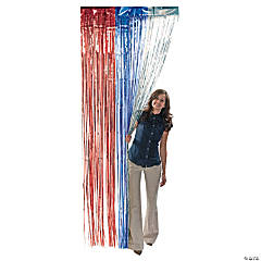 Foil Patriotic Door Curtain