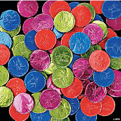 Foil-Wrapped Luau Bubble Gum Coins