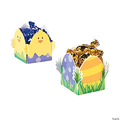 Folding Easter Favor Boxes