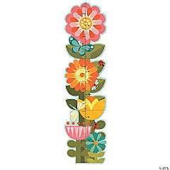 Folding Growth Chart: Garden Flowers