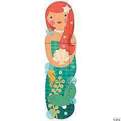 Folding Growth Chart: Little Miss Mermaid