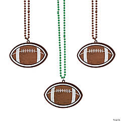Football Bead Necklaces
