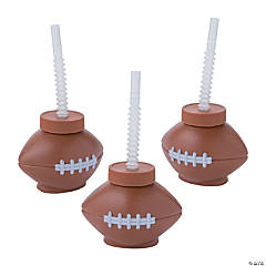 Football Cups with Straws