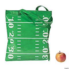 Football Field Laminated Tote Bags
