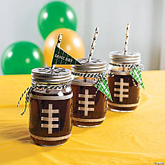 Football Mason Jar with Printable Tag Idea