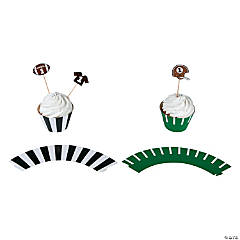 Football Party Cupcake Wrappers with Picks