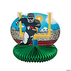 Football Players and Goal Centerpiece