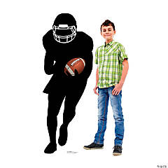 Football Running Back Silhouette Stand-Up