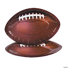 Football-Shaped Paper Dinner Plates