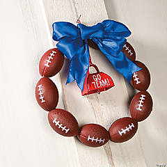 Football Wreath Decor Idea